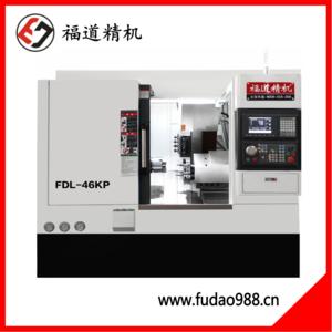 AG8国际亚游刀塔+动力头车铣复合数控车床FDL-46/52KP